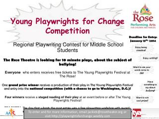 Young  Playwrights for Change  Competition