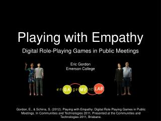 Playing with Empathy