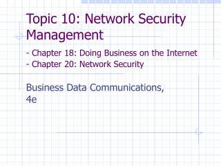 Business Data Communications 4e