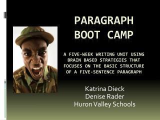 Katrina Dieck Denise Rader Huron Valley Schools