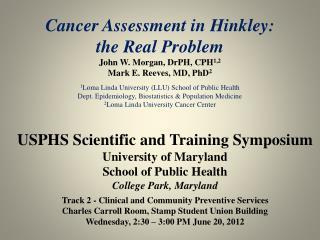 USPHS Scientific and Training Symposium University of Maryland School of Public  Health