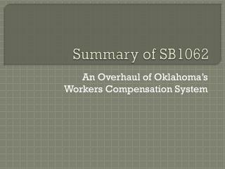Summary  of  SB1062