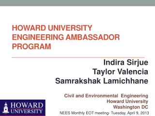 Howard University Engineering Ambassador Program