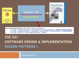 CSE 331 Software Design & Implementation design patterns  i