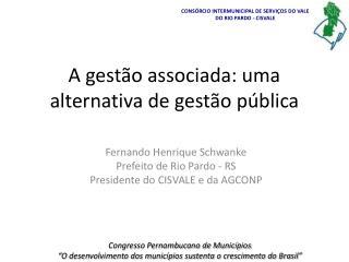 A gestão associada: uma alternativa de gestão pública