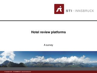Hotel review platforms