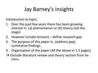 Jay Barney's insights