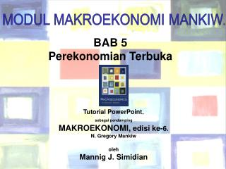 BAB 5 Perekonomian Terbuka
