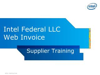 Intel Federal LLC Web Invoice