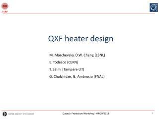 QXF heater design