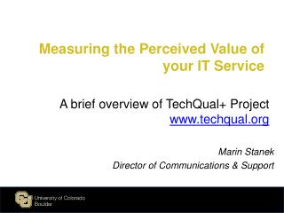 Measuring the Perceived Value of your IT Service