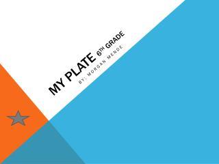My  Plate  6 th  grade