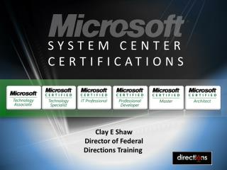 SYSTEM CENTER CERTIFICATIONS