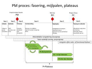 PM proces: fasering, mijlpalen, plateaus