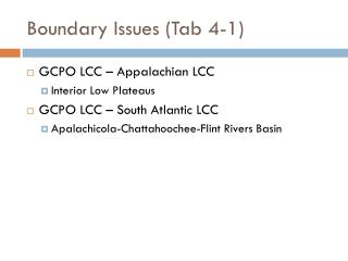 Boundary Issues (Tab 4-1)