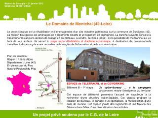 Un  projet privé soutenu  par le C.G. de  la Loire