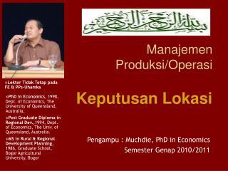 Manajemen Produksi/Operasi