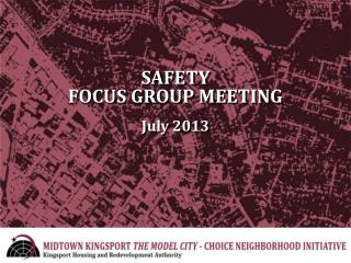 SAFETY FOCUS GROUP MEETING July 2013