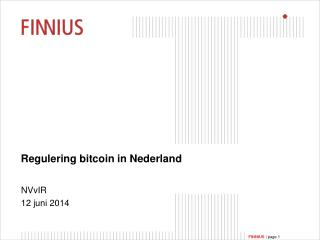 Regulering  bitcoin  in Nederland