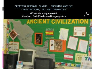 CREATING PERSONAL GLYPHS:  INFUSING ANCIENT CIVILIZATIONS, ART AND TECHNOLOGY