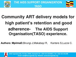 Community ART delivery models for  high patient�s retention and good