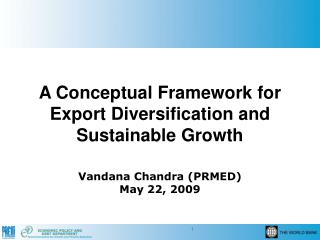 A Conceptual Framework for Export Diversification and Sustainable Growth