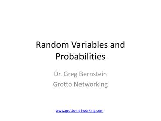 Random Variables and Probabilities