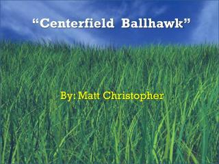 """Centerfield   Ballhawk """