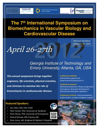 Featured Speakers: Shu Chien , MD, PhD, UCSD Peter Hunter, PhD, University of  Auckland