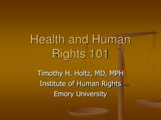 Health and Human Rights 101