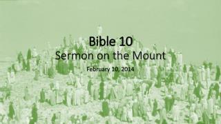 Bible 10 Sermon on the Mount