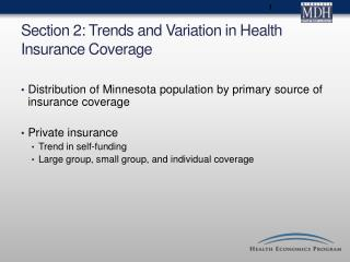 Section 2: Trends and Variation in Health Insurance Coverage