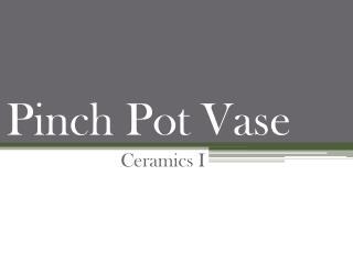 Pinch Pot Vase