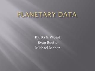 Planetary Data