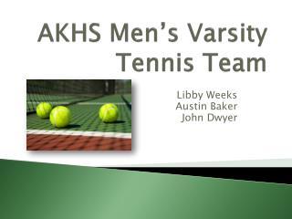 AKHS Men�s Varsity Tennis Team