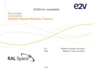 DCDS for roundtable