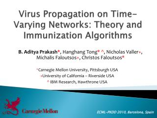 Virus Propagation on Time-Varying Networks: Theory and Immunization Algorithms