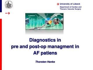 Diagnostics  in  pre and  post- op managment  in  AF  patiens