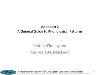 Appendix 2  A General Guide to Phonological Patterns