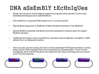 DNA aSsEmBlY tEcHnIqUes