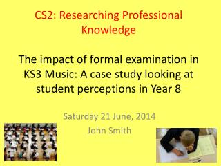 Saturday 21 June, 2014 John Smith