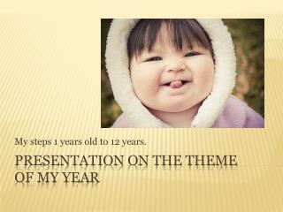 Presentation on the theme of my year