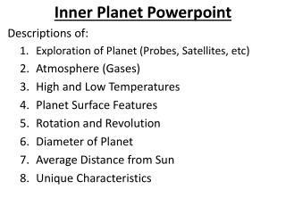 Inner Planet  Powerpoint