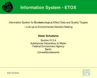 Information System - ETOX