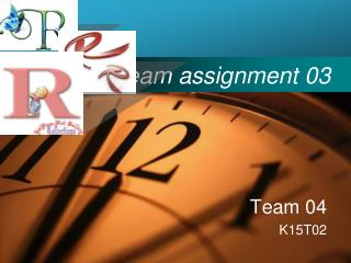 Team assignment 03
