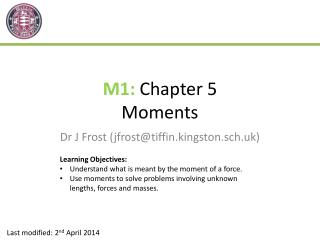 M1:  Chapter 5 Moments