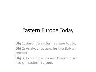 Eastern Europe Today