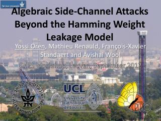 Algebraic  Side-Channel Attacks Beyond the Hamming Weight Leakage  Model