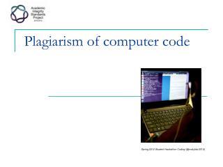 Plagiarism of computer  code