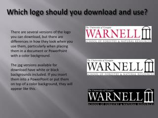 Which logo should you download and use?